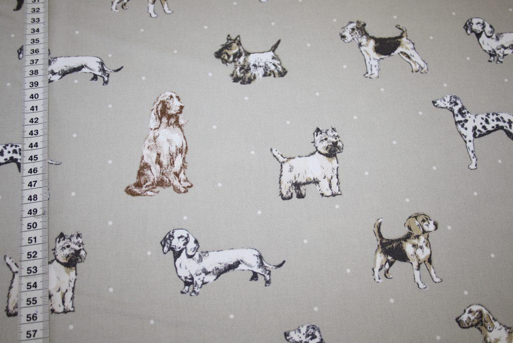 renee-d.de Onlineshop: Fester Deko Baumwollstoff Hunde