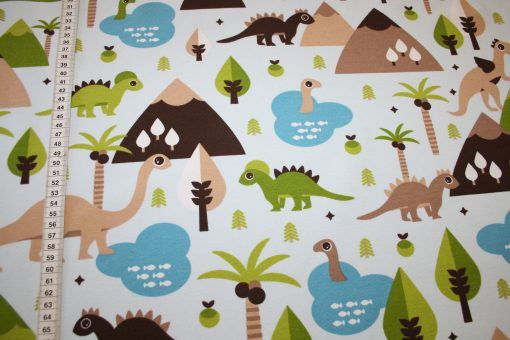 renee-d.de Onlineshop: Fester Deko Stoff Dinos Dinosaurier