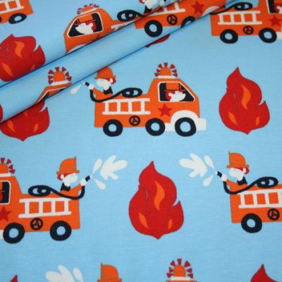 renee-d.de Onlineshop: Jersey Stoff Feuerwehr blau