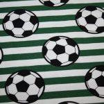 Fußball Jersey Stoff grün weiß