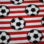 Fußball Jersey Stoff rot weiß