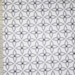 renee-d.de Onlineshop: Gütermann Baumwollstoff Long Island grau weiß