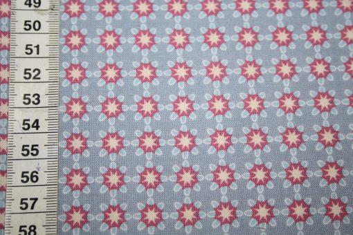 renee-d.de Onlineshop: Gütermann Portofino Baumwollstoff rosa blau beige Blumen