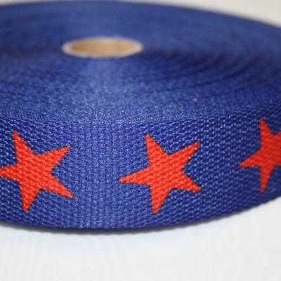 renee-d.de Onlineshop: Gurtband blau Sterne rot 3 cm