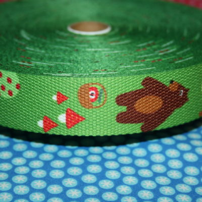 renee-d.de Onlineshop: Gurtband grün mit Bär 3 cm breit