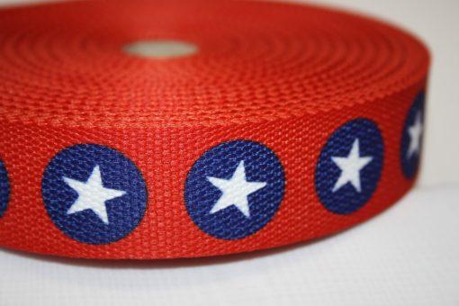 renee-d.de Onlineshop: Gurtband rot Punkte Sterne blau weiß 3 cm