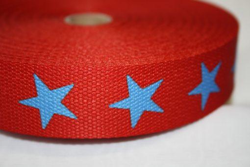 renee-d.de Onlineshop: Gurtband rot Sterne blau  3 cm