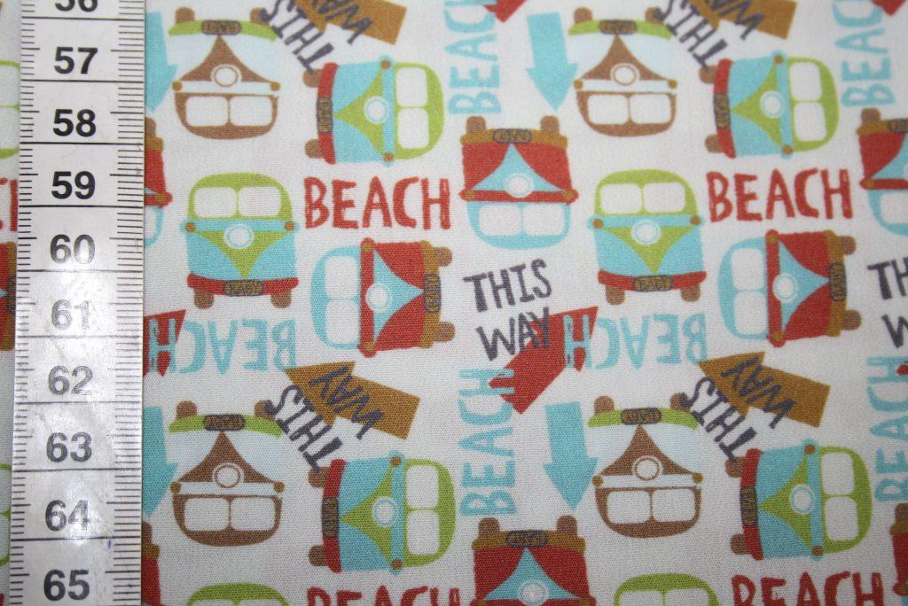 renee-d.de Onlineshop: Hilco Baumwollstoff Bulli Beach
