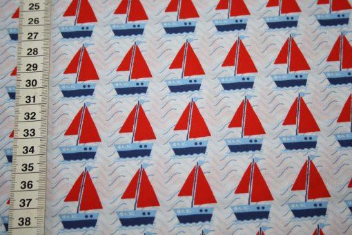 renee-d.de Onlineshop: Hilco Baumwollstoff Maritim Boote Schiffe