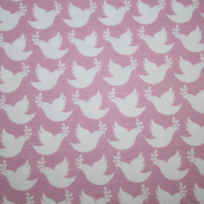 renee-d.de Onlineshop: Hilco Jersey Stoff Love Peace Taube rosa