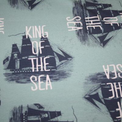 renee-d.de Onlineshop: Hilco Jersey Stoff Maritim Pirat Schiff