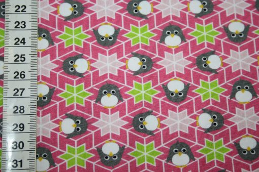 renee-d.de Onlineshop: Hilco Jersey Stoff rosa Pinguin