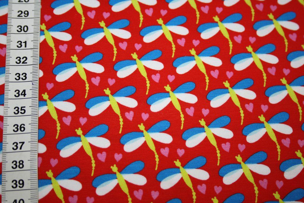 renee-d.de Onlineshop: Hilco Jersey Stoff rot Libelle
