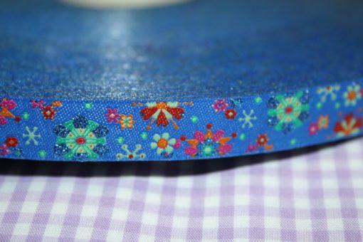 Artikel aus dem renee-d.de Onlineshop: Farbenmix Webband Mandalablumen blau