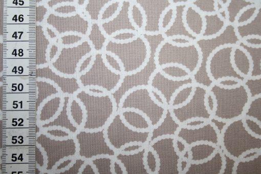 renee-d.de Onlineshop: Jenean Morrison Baumwollstoff braun gelb rosa kleine Muster