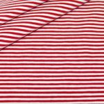 renee-d.de Jersey Stoff rot weiß