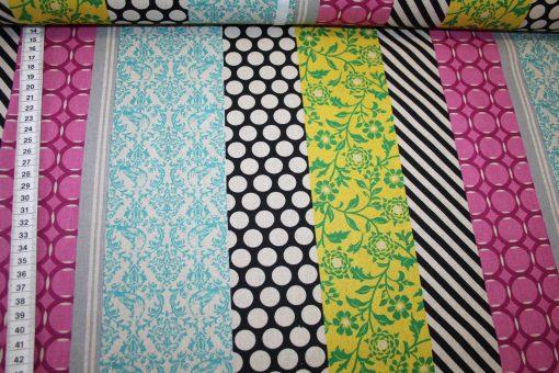renee-d.de Onlineshop: Kokka Echino Baumwoll Leinen Stoff Muster