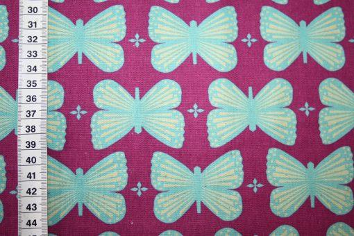 renee-d.de Onlineshop: Kokka Echino Baumwoll Leinen Stoff Schmetterlinge