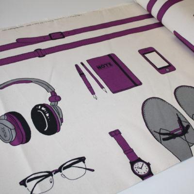 renee-d.de Onlineshop: Kokka Echino Baumwoll Leinen Stoff Taschen