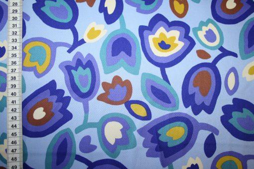 renee-d.de Onlineshop: Kokka Echino Baumwollstoff Blumen blau