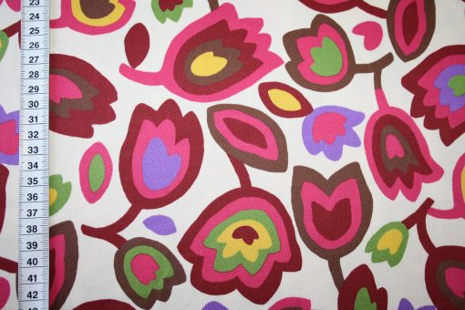 renee-d.de Onlineshop: Kokka Echino Baumwollstoff Blumen creme