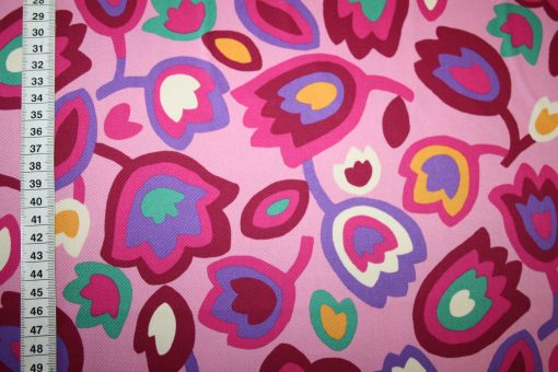 renee-d.de Onlineshop: Kokka Echino Baumwollstoff Blumen pink
