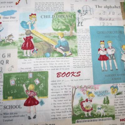 renee-d.de Onlineshop: Kokka Echino Baumwollstoff Nostalgisch Bilder