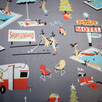 renee-d.de Onlineshop: Michael Miller Baumwollstoff Weihnachtsmann macht Ferien