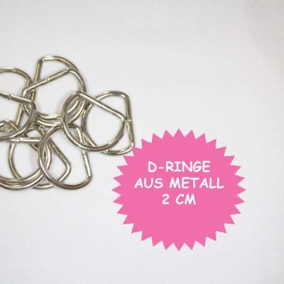 renee-d.de Onlineshop: D Ringe Metall 2 cm