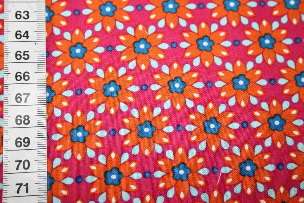 renee-d.de Onlineshop: Mirabelle Baumwollstoff by Rebekah Ginda pink rot kleine Blumen