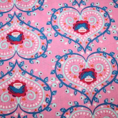 renee-d.de Onlineshop: Mirabelle Baumwollstoff by Rebekah Ginda rosa Herz
