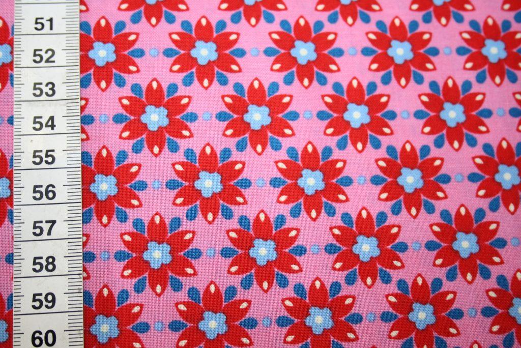 renee-d.de Onlineshop: Mirabelle Baumwollstoff by Rebekah Ginda rosa rot kleine Blumen