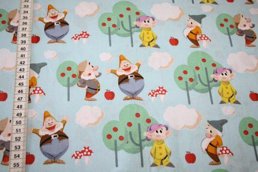 renee-d.de Onlineshop: Original Die sieben Zwerge Baumwollstoff