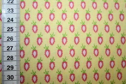 renee-d.de Onlineshop: Riley Blake Baumwollstoff Madhuri gelb kleine Muster
