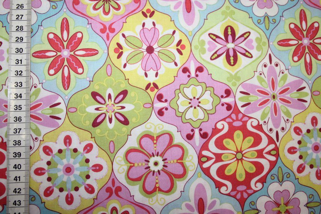 renee-d.de Onlineshop: Riley Blake Baumwollstoff Splendor bunte Blumen