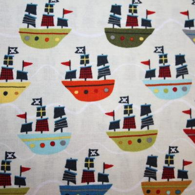 renee-d.de Onlineshop: Riley Blake Baumwollstoff Treasure Map Pirat Boote