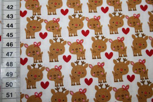 renee-d.de Onlineshop: Riley Blake Baumwollstoff kleine Rentiere Weihnachten