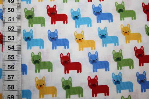 renee-d.de Onlineshop: Robert Kaufman Baumwollstoff Französische Bulldogge Mops klein