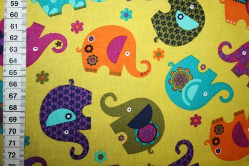 renee-d.de Onlineshop: Robert Kaufmann Baumwollstoff Elefant