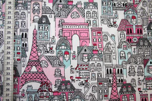 renee-d.de Onlineshop: Robert Kaufmann Baumwollstoff Paris pink