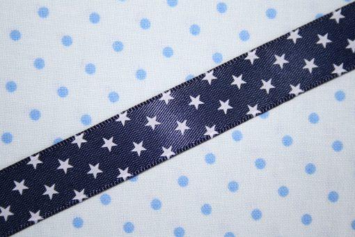 renee-d.de Onlineshop: Satinband blau mit Sternchen