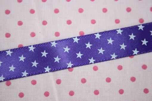 renee-d.de Onlineshop: Satinband lila mit Sternchen