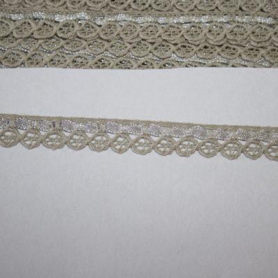 renee-d.de Onlineshop: Schmale Baumwollspitze beige