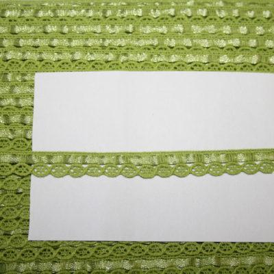 renee-d.de Onlineshop: Schmale Baumwollspitze grün