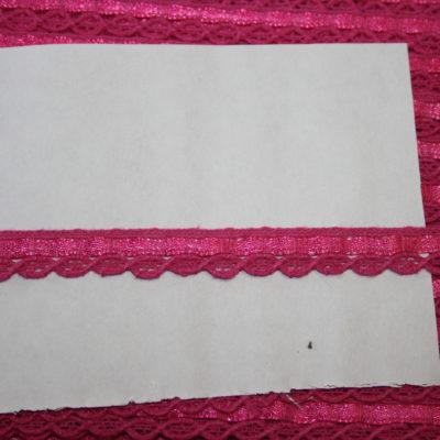 renee-d.de Onlineshop: Schmale Baumwollspitze pink