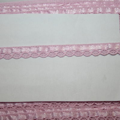 renee-d.de Onlineshop: Schmale Baumwollspitze rosa