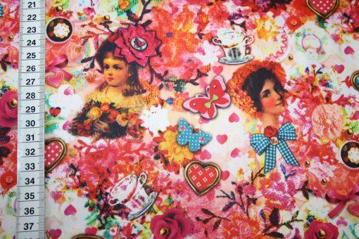 renee-d.de Onlineshop: So Cute Baumwollstoff Deko Digitaldruck Nostalgisch