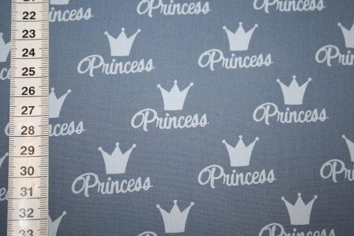 renee-d.de Onlineshop: Stenzo Baumwollstoff Stoff blau Krone Princess