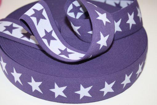 renee-d.de Onlineshop: Sternchen Gummiband 4 cm breit lila