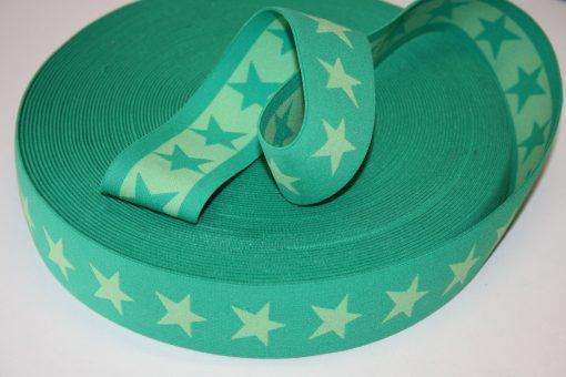 renee-d.de Onlineshop: Sternchen Gummiband 4 cm breit grün